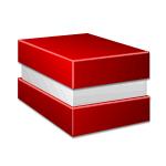 Коробка крышка-дно с отступом